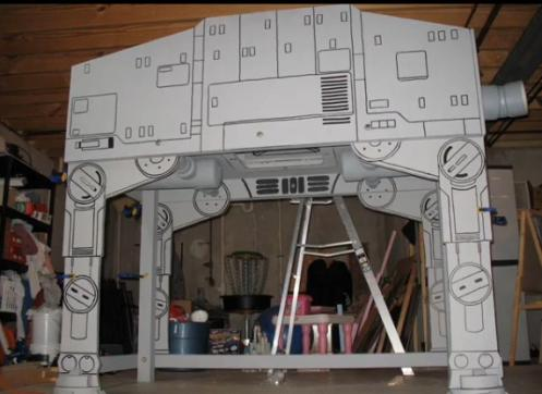 geeky star wars bed at at