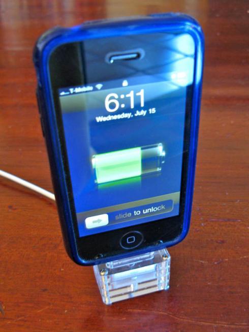 laser cut iphone stand