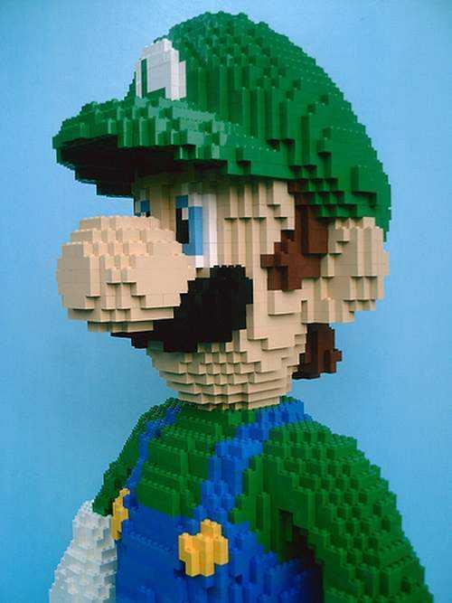 super mario bros luigi lego