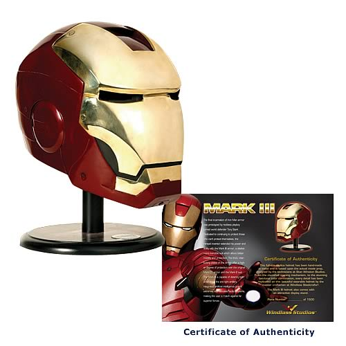 limited edition iron man helmet statue replica