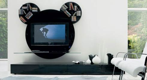 """A Mickey-Mouse T.V stand that'll make your T.V """"Stand Out!!""""1"""