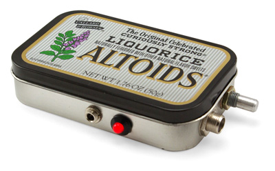portable guitar amp altoids mint box