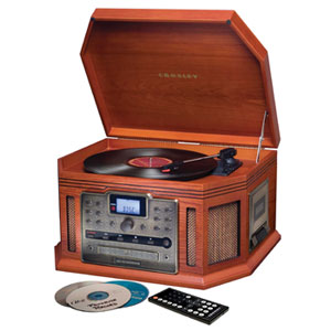 retro cd player with phonograph