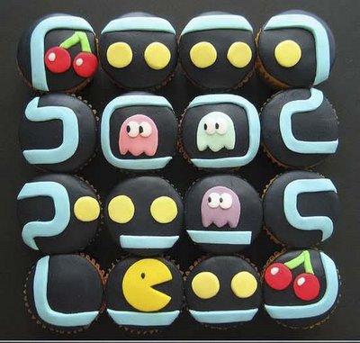 pacman game cupcake design