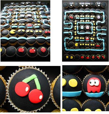 pacman game cupcake designs