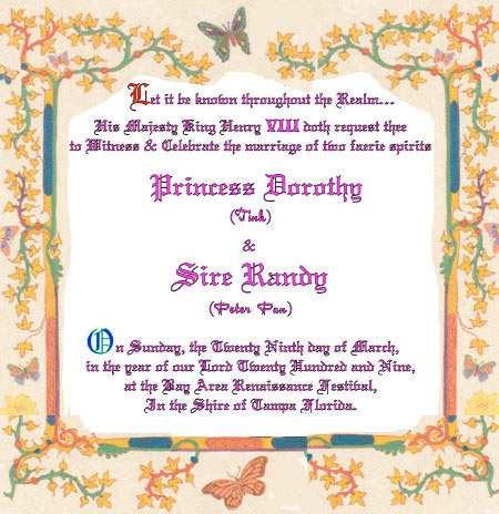 peter pan tinkerbell wedding vows