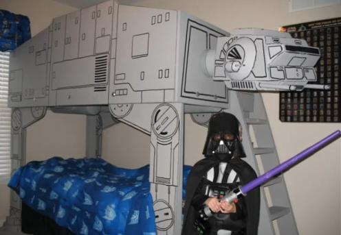 star wars darth vader at at bed