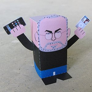 steve jobs papercraft model