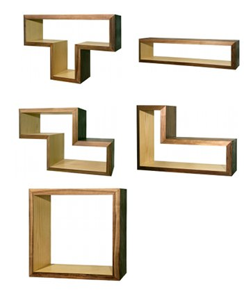 tetris shelves design