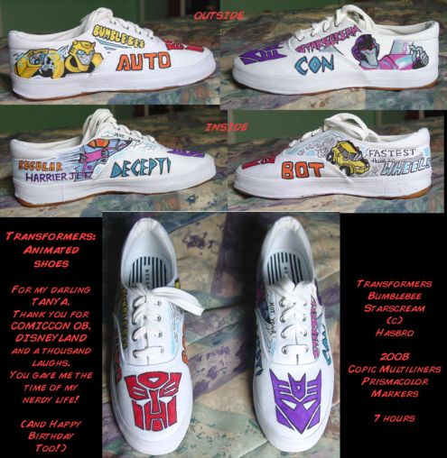 transformers shoes art