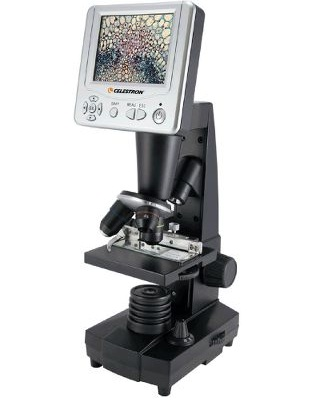 microscope with video screen