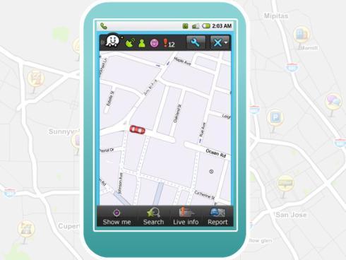 waze smartphone gps real time