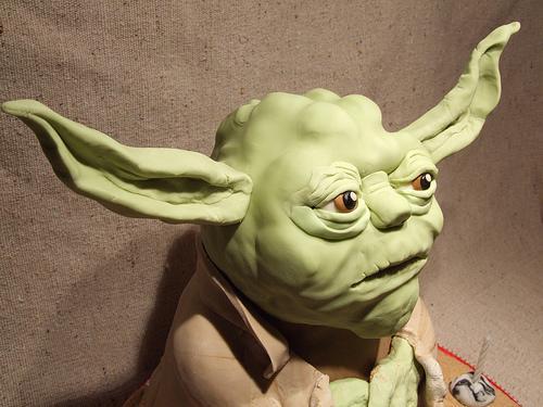 yoda star wars cake