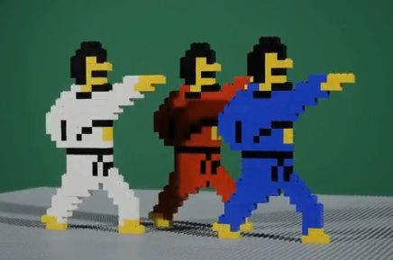 8 bit video game lego trip