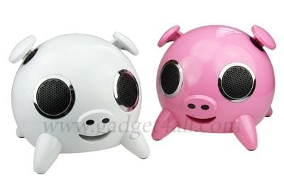 funny pig computer speakers