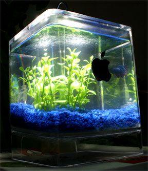 apple mac g4 mod aquarium