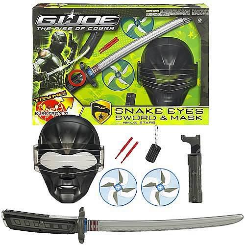 gi joe snake eyes mask and sword