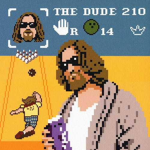 big lebowski artwork 8 bit