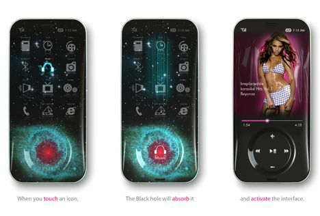cool cellphone design black hole concept