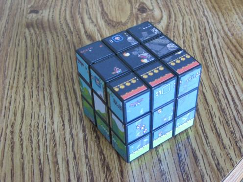 cool super mario bros rubiks cube game