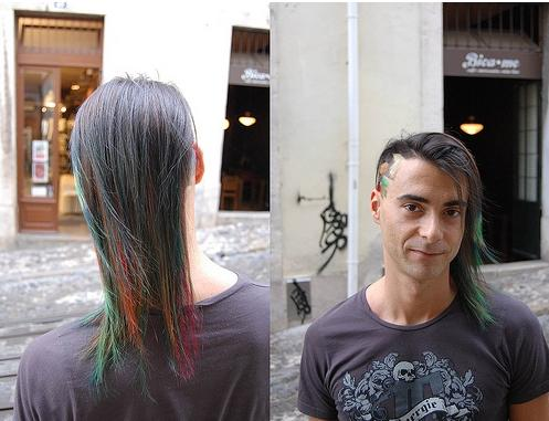 cool tetris game hair cut design