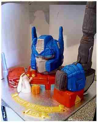 cool optimus prime cake design