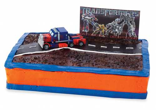 cool transformers cake