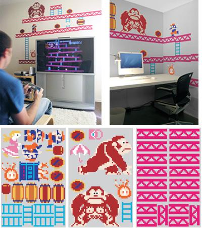 cool donkey kong stickers wall graphics
