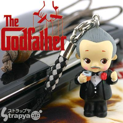 the godfather action figure cellphone charm