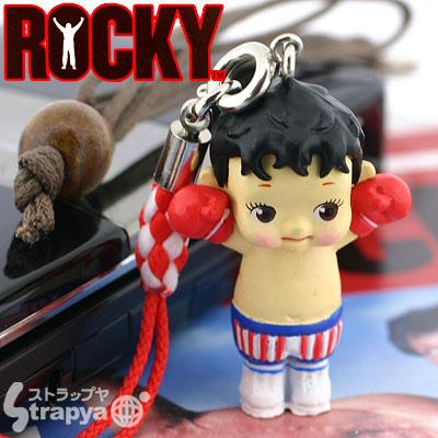rocky balboa action figure cellphone charm
