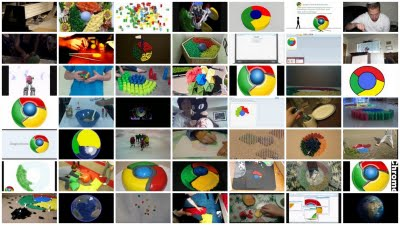 google chrome icon collage art
