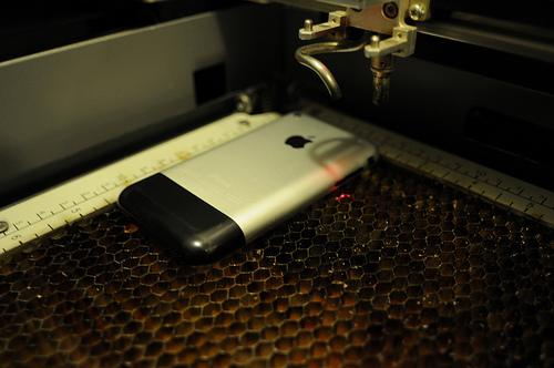 laser etched iphone design