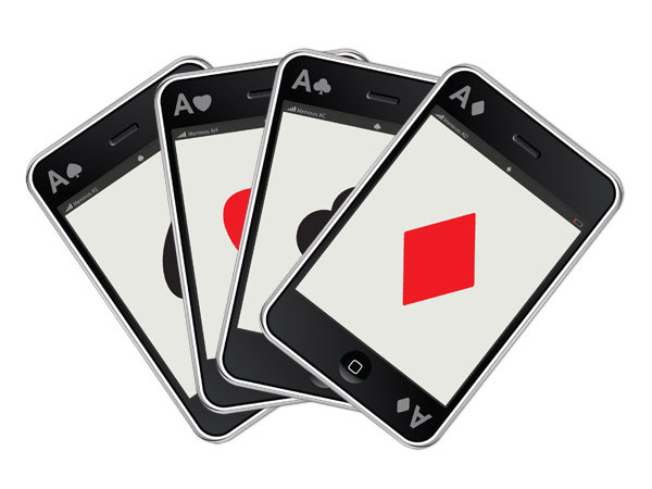 cool iphone playing cards