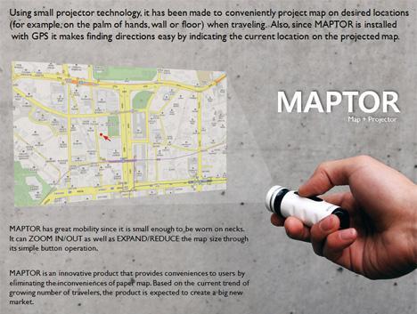 map projector gps gadget maptor