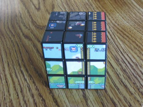 new super mario bros rubiks cube game