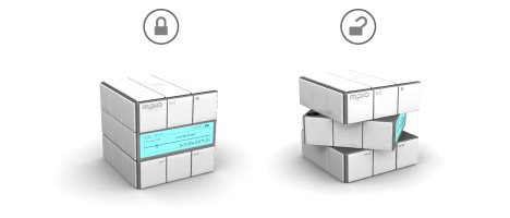 cool rubik's cube mp3 player