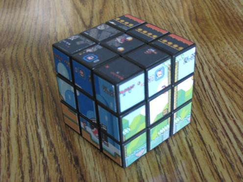 super mario bros rubiks cube game