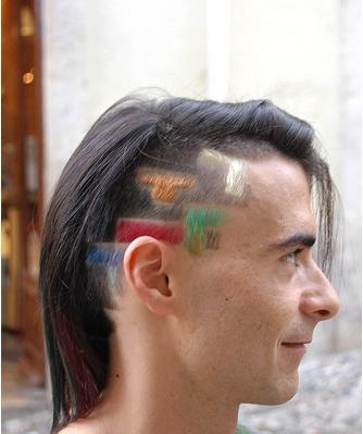 tetris bricks hair cut design
