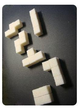 tetris game sugar cube art