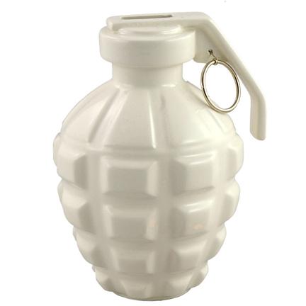cool grenade piggy bank sculpture