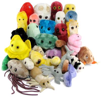 giant microbes plush toys
