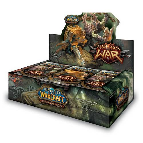 world of warcraft drums of war trading cards