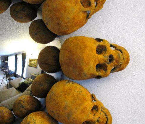 weird skull art