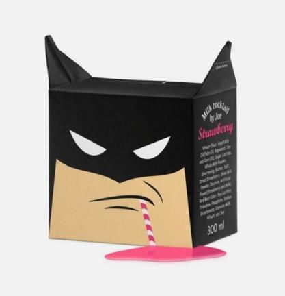 batman milk carton design