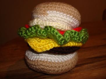 best cheeseburger crochet art