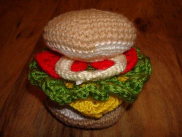 best hamburger crochet art