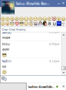chat emoticons for facebook