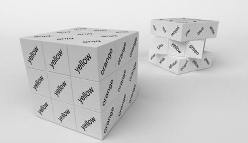 color font rubik's cube design