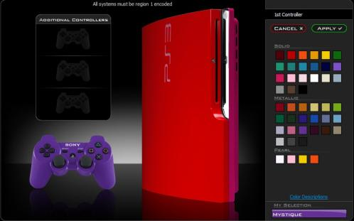 red ps3 slim mod colorware