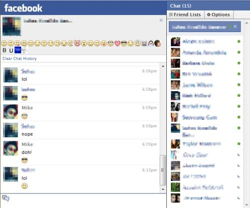 emoticons facebook chat